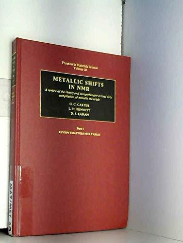 Progress in Material Science: Volume 20; Metallic: Carter, G. C.;
