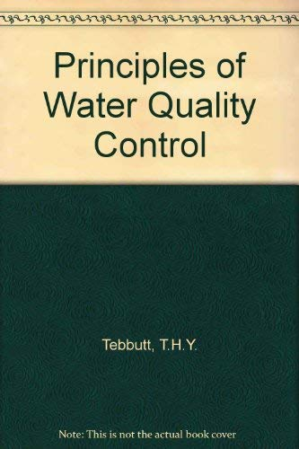 9780080212968: Principles of Water Quality Control