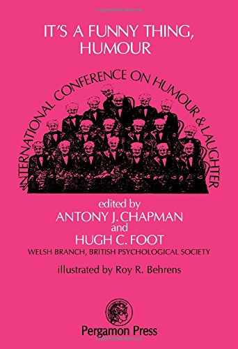 9780080213767: It's a Funny Thing, Humour: International Conference on Research into Humour and Laughter