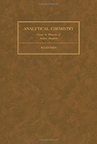 9780080215969: Essays on analytical chemistry: In memory of Professor Anders Ringbom
