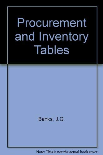 9780080219455: Procurement and Inventory Tables
