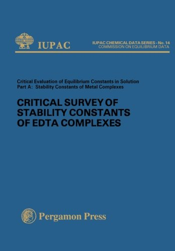 9780080220093: Critical Survey of Stability Constants of EDTA Complexes: Critical Evaluation of Equilibrium Constants in Solution Part A: Stability Constants of Metal Complexes (IUPAC Publications)