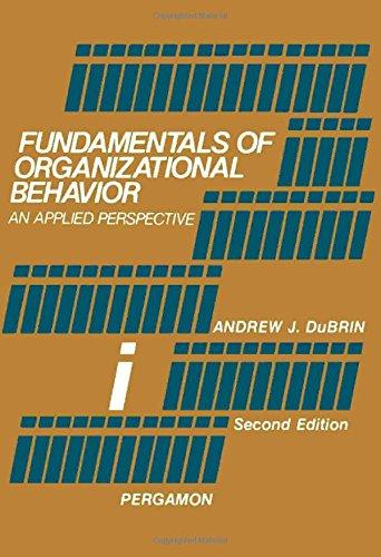 9780080222523: Fundamentals of Organizational Behaviour: An Applied Perspective