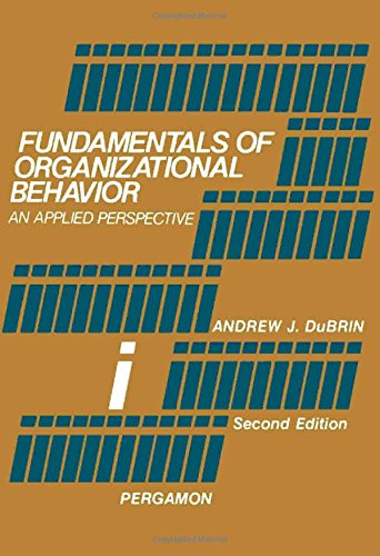 9780080222523: Fundamentals of Organizational Behavior: An Applied Perspective