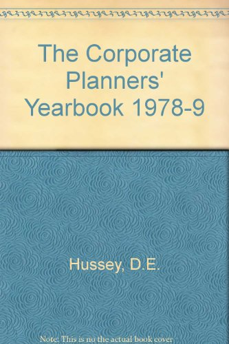 9780080222554: The Corporate Planners' Yearbook 1978-9