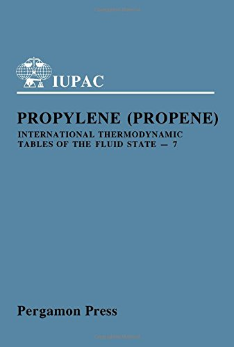 9780080223735: International Thermodynamic Tables of the Fluid State, Vol. 7: Propylene (Propene) (International Union of Pure and Applied Chemistry, Chemical Data Series, No. 25)