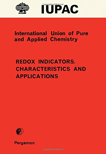 9780080223834: Redox indicators: Characteristics and applications