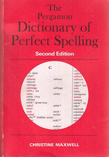 9780080228631: Pergamon Dictionary of Perfect Spelling
