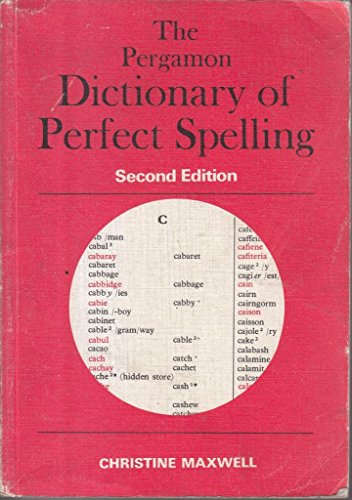 9780080228655: Pergamon Dictionary of Perfect Spelling
