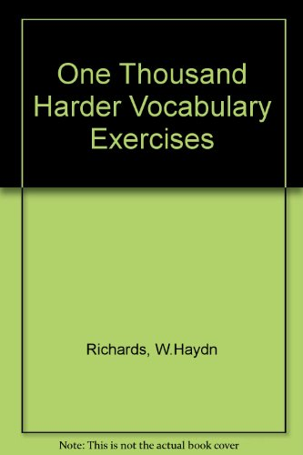 9780080228730: One Thousand Harder Vocabulary Exercises