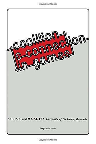 9780080230337: Coalition and Connection in Games