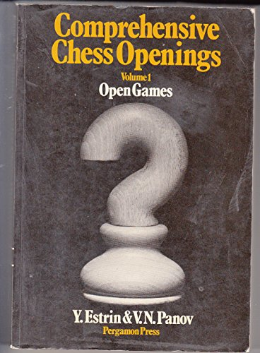 9780080231020: Comprehensive Chess Openings, Vol. 1: Open Games (Pergamon Russian Chess Series) (v. 1)