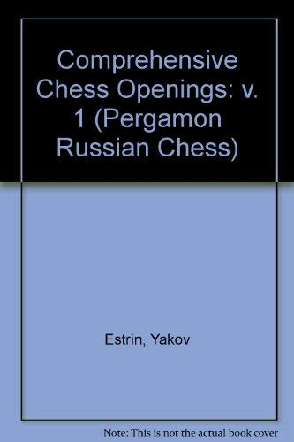 9780080231037: Comprehensive Chess Openings, Vol. 1: Open Games