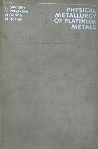 9780080232591: Physical Metallurgy of Platinum Metals (English and Russian Edition)