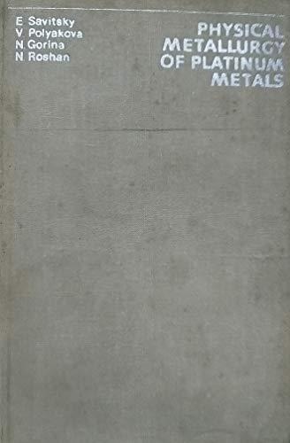 9780080232591: Physical Metallurgy of Platinum Metals