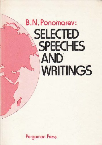 9780080236063: Selected Speeches and Writings