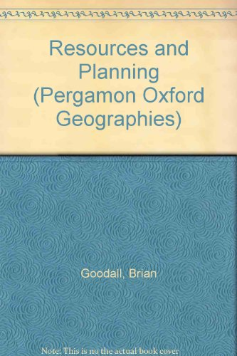 9780080237114: Resources and Planning (Pergamon Oxford Geographies)
