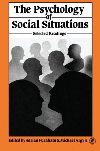 9780080237190: The Psychology of Social Situations: Selected Readings (International Series in Psychobiology and Learning)