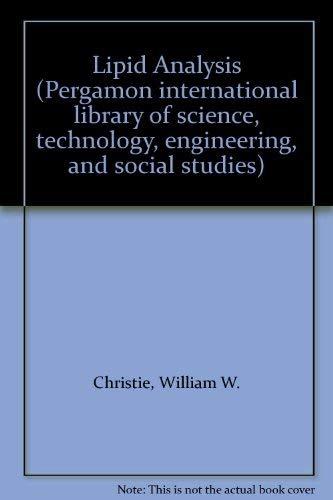 9780080237916: Lipid Analysis (Pergamon international library)