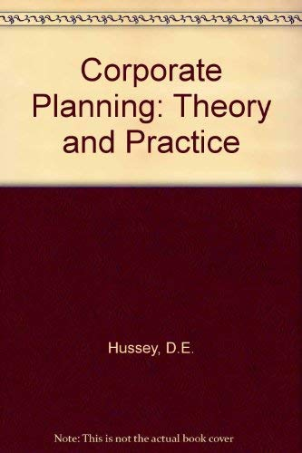 9780080240732: Corporate Planning: Theory and Practice