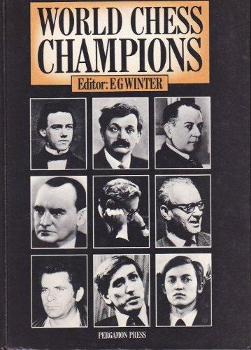 9780080240947: World Chess Champions (Cadogan Chess Books)