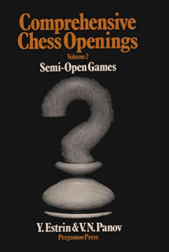 9780080241104: Comprehensive Chess Openings: v. 2 (Pergamon Russian Chess)