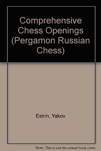 9780080241135: Comprehensive Chess Openings (Pergamon Russian Chess)