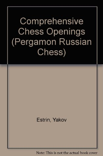 9780080241135: Comprehensive Chess Openings (Pergamon-Russian Chess Series)