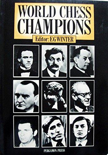 9780080241173: World Chess Champions (Pergamon chess series)