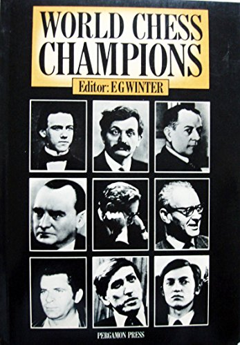 9780080241173: World Chess Champions (Pergamon chess series)