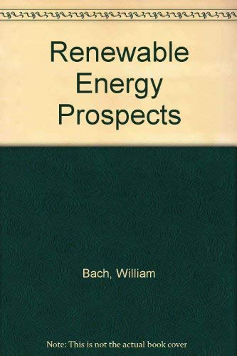 9780080242521: Renewable Energy Prospects