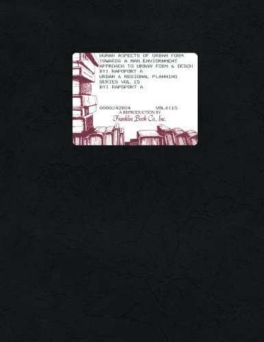 9780080242804: Human Aspects of Urban Form: Towards a Man Environment Approach to Urban Form and Design