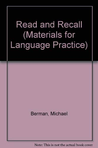9780080245317: Read and Recall (Materials for Language Practice)