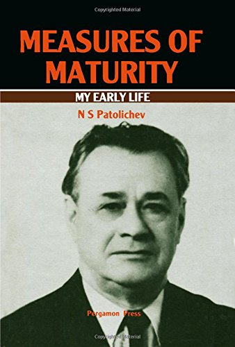 9780080245454: Measures of Maturity: My Early Life