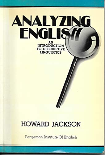 9780080245560: Analysing English: Introduction to Descriptive Linguistics (Language Courses)