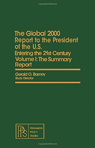 9780080246178: Global 2000 Report to the President of the United States: The Summary Report - With Environment Projections and the Government's Global Model v. 1: ... studies on policy, planning, and modeling)