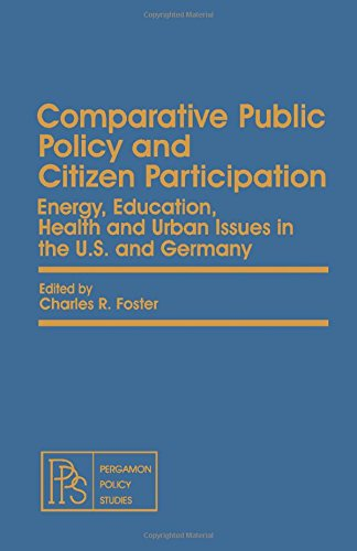 9780080246246: Comparative Public Policy and Citizen Participation (Pergamon Policy Studies on)