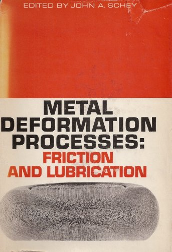 9780080246581: Metal Deformation Processes. Friction And Lubrication.