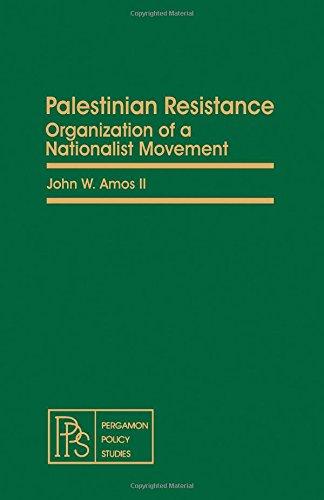 9780080250946: Palestinian resistance: Organization of a nationalist movement (Pergamon policy studies on international politics)