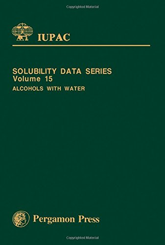 9780080252766: Alcohols With Water (Solubility Data Series)