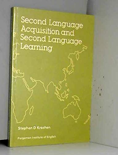 9780080253381: Second Language Acquisition and Second Language Learning (Language teaching methodology series)