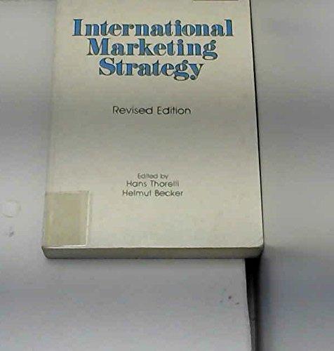 9780080255439: International Marketing Strategy