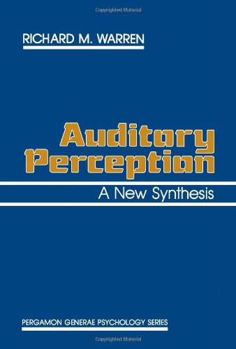9780080259574: Auditory Perception: A New Synthesis (Pergamon General Psychology Series)
