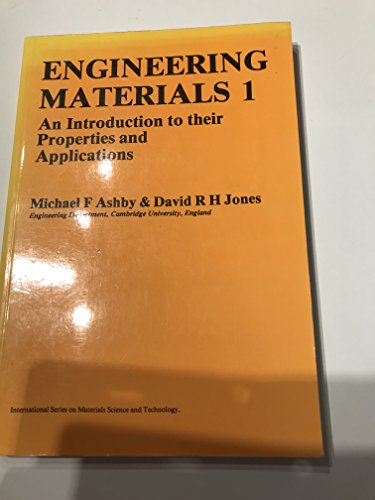 9780080261386: Engineering Materials: An Introduction to Their Properties and Applications (Materials Science & Technology Monographs)