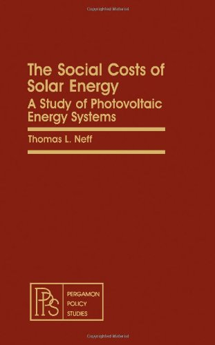 9780080263151: The Social Costs of Solar Energy: A Study of Photovoltaic Energy Systems (Pergamon Policy Studies on Science and Technology)