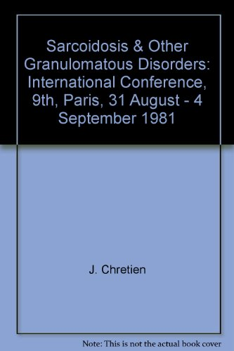 9780080270883: Sarcoidosis & Other Granulomatous Disorders: International Conference, 9th, Paris, 31 August - 4 September 1981