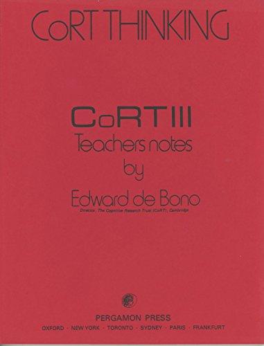 CoRT 3: Teachers Notes (CoRT Thinking)