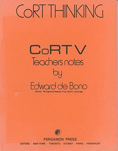 9780080274294: Cort 5: Teachers Notes (CoRT thinking)