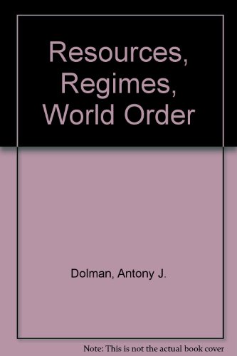 9780080280806: Resources, Regimes, World Order (Pergamon policy studies on international development)