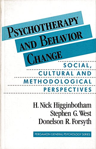 9780080280899: Psychotherapy and Behaviour Change: Social, Cultural and Methodological Perspectives (General Psychology)